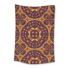 Geometric Pattern Small Tapestry by linceazul