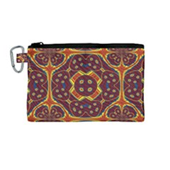 Geometric Pattern Canvas Cosmetic Bag (medium) by linceazul