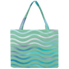 Abstract Digital Waves Background Mini Tote Bag by BangZart