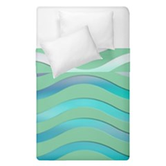 Abstract Digital Waves Background Duvet Cover Double Side (single Size)