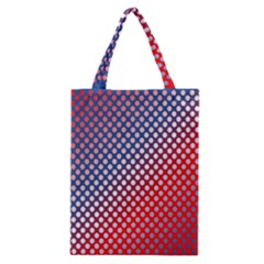 Dots Red White Blue Gradient Classic Tote Bag by BangZart
