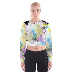 Watercolour Watercolor Paint Ink Cropped Sweatshirt