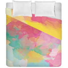 Watercolour Gradient Duvet Cover Double Side (california King Size) by BangZart