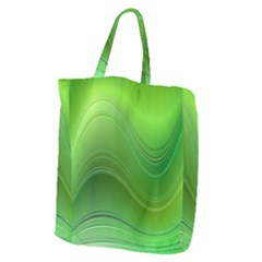 Green Wave Background Abstract Giant Grocery Zipper Tote