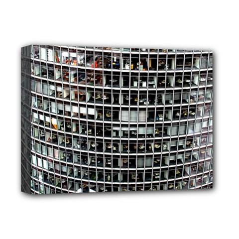 Skyscraper Glass Facade Offices Deluxe Canvas 16  X 12   by BangZart