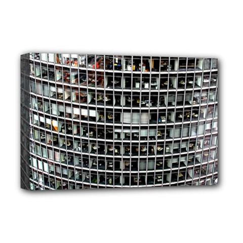Skyscraper Glass Facade Offices Deluxe Canvas 18  X 12   by BangZart