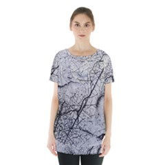 Abstract Background Texture Grey Skirt Hem Sports Top by BangZart