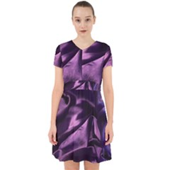 Shiny Purple Silk Royalty Adorable In Chiffon Dress