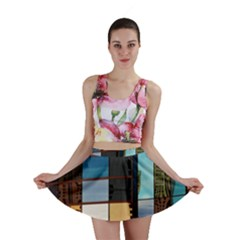 Glass Facade Colorful Architecture Mini Skirt by BangZart