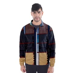 Glass Facade Colorful Architecture Wind Breaker (men) by BangZart