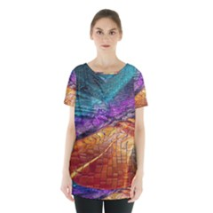 Graphics Imagination The Background Skirt Hem Sports Top by BangZart