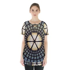 Stained Glass Colorful Glass Skirt Hem Sports Top by BangZart