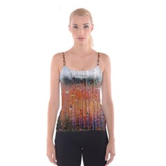 Glass Colorful Abstract Background Spaghetti Strap Top