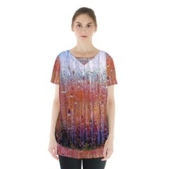 Glass Colorful Abstract Background Skirt Hem Sports Top by BangZart