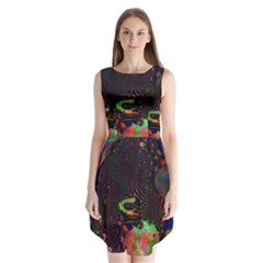 The Fourth Dimension Fractal Sleeveless Chiffon Dress