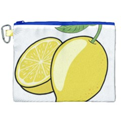 Lemon Fruit Green Yellow Citrus Canvas Cosmetic Bag (xxl) by BangZart