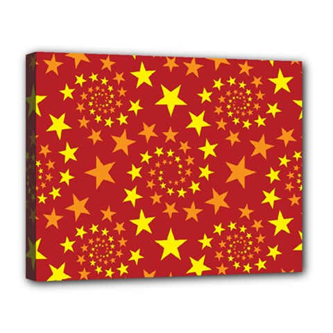 Star Stars Pattern Design Canvas 14  X 11  by BangZart