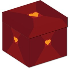 Heart Red Yellow Love Card Design Storage Stool 12   by BangZart