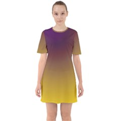 Course Colorful Pattern Abstract Sixties Short Sleeve Mini Dress