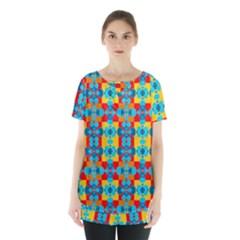 Pop Art Abstract Design Pattern Skirt Hem Sports Top by BangZart