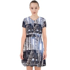 House Old Shed Decay Manufacture Adorable In Chiffon Dress