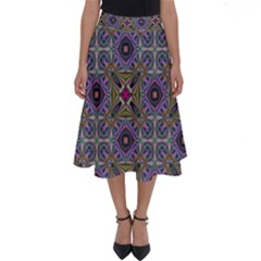Vintage Abstract Unique Original Perfect Length Midi Skirt