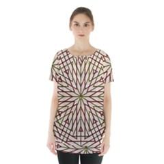 Kaleidoscope Online Triangle Skirt Hem Sports Top by BangZart