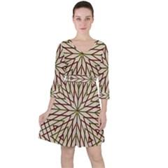 Kaleidoscope Online Triangle Ruffle Dress by BangZart