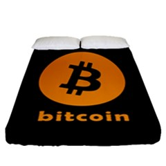 I Accept Bitcoin Fitted Sheet (queen Size) by Valentinaart