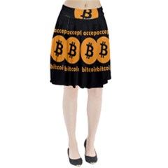 I Accept Bitcoin Pleated Skirt by Valentinaart