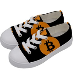I Accept Bitcoin Kids  Low Top Canvas Sneakers by Valentinaart