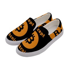 I Accept Bitcoin Women s Canvas Slip Ons by Valentinaart