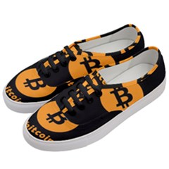 I Accept Bitcoin Women s Classic Low Top Sneakers by Valentinaart