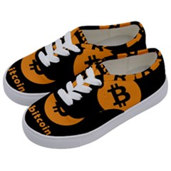 I Accept Bitcoin Kids  Classic Low Top Sneakers by Valentinaart