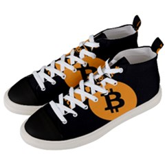 I Accept Bitcoin Men s Mid Top Canvas Sneakers by Valentinaart