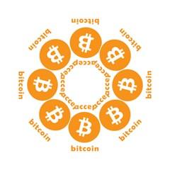 I Accept Bitcoin Folding Umbrellas by Valentinaart