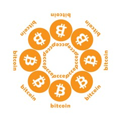 I Accept Bitcoin Hook Handle Umbrellas (large) by Valentinaart