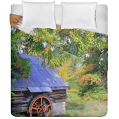 Landscape Blue Shed Scenery Wood Duvet Cover Double Side (california King Size)
