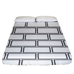 Wall Pattern Rectangle Brick Fitted Sheet (king Size)
