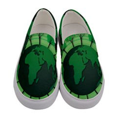 Earth Forest Forestry Lush Green Women s Canvas Slip Ons