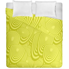 Yellow Oval Ellipse Egg Elliptical Duvet Cover Double Side (california King Size) by BangZart