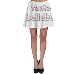 Verified Belieber Skater Skirt by Valentinaart