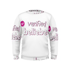 Verified Belieber Kids  Sweatshirt by Valentinaart