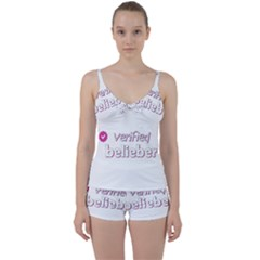 Verified Belieber Tie Front Two Piece Tankini by Valentinaart