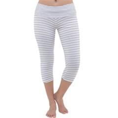Pattern Background Monochrome Capri Yoga Leggings by BangZart