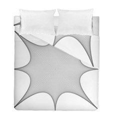 Star Grid Curved Curved Star Woven Duvet Cover Double Side (full/ Double Size)