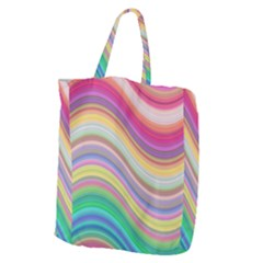 Wave Background Happy Design Giant Grocery Zipper Tote