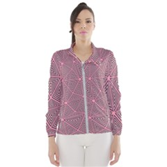 Triangle Background Abstract Wind Breaker (women) by BangZart