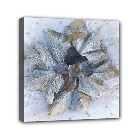 Winter Frost Ice Sheet Leaves Canvas Travel Bag by BangZart