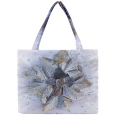Winter Frost Ice Sheet Leaves Mini Tote Bag by BangZart